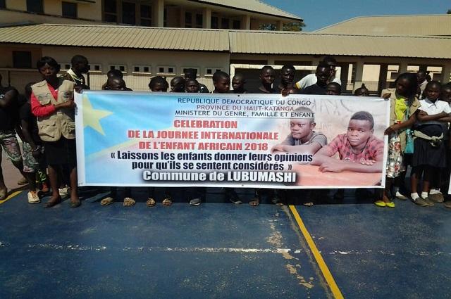 Lubumbashi : les enfants plaident  pour la protection et la sécurité