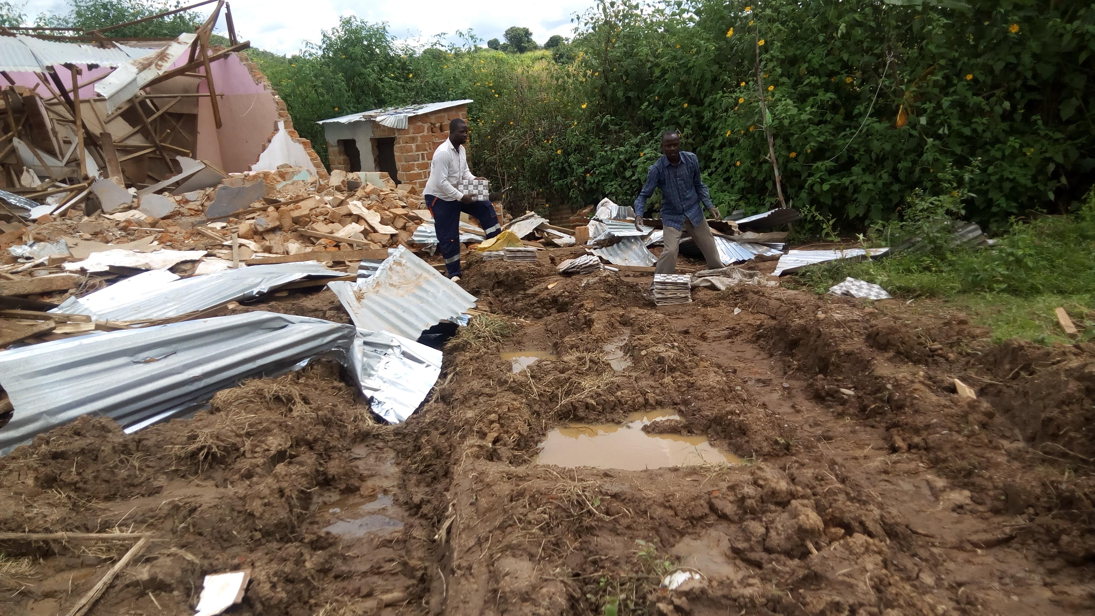 Tanganyka: 17 maisons endommagées par des fortes pluies le weekend dernier à Yenga