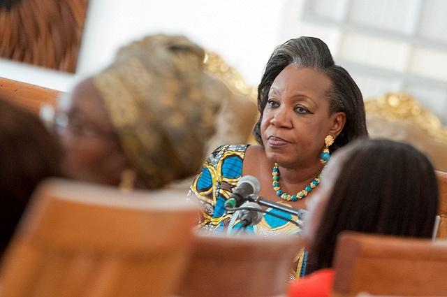 RDC: en mission à Kinshasa Catherine Samba Panza encourage les congolaises à s'engager en politique