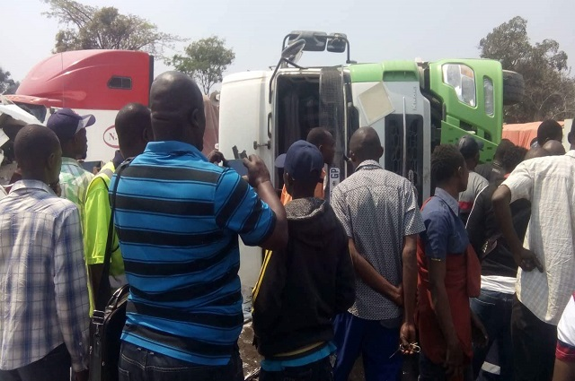 Lubumbashi : trafic interrompu sur l'axe Kasumbalesa suite à accident