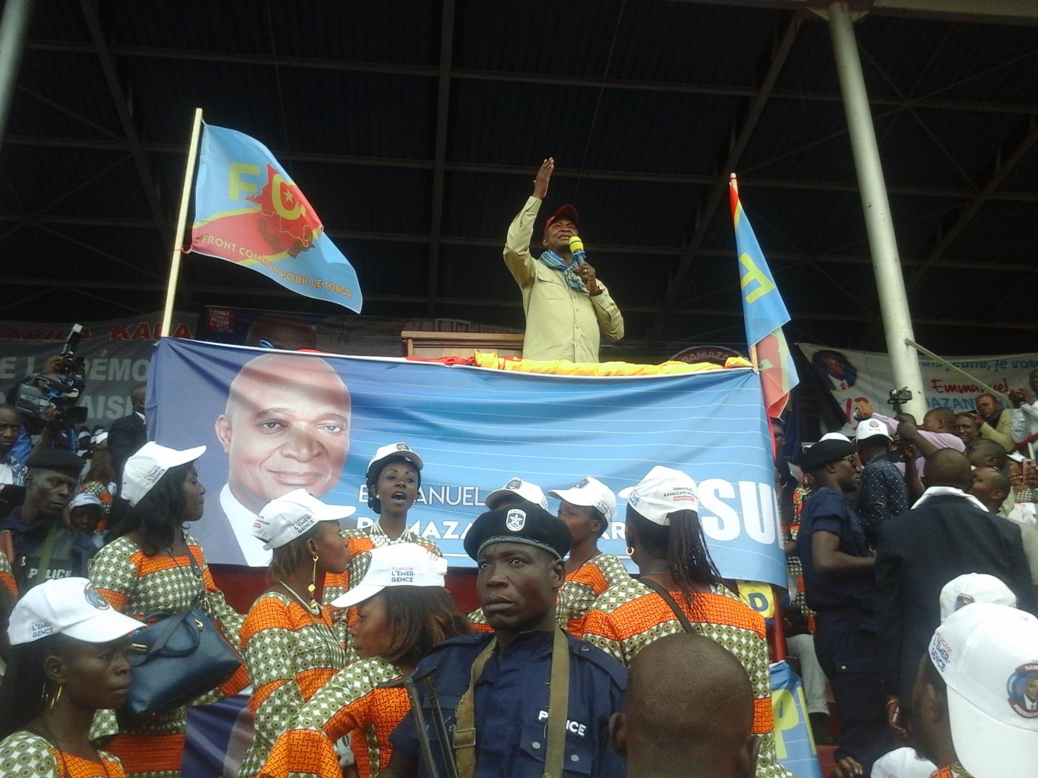 « Je suis déjà élu »  Ramazani Shadari au stade de la Kenya de Lubumbashi