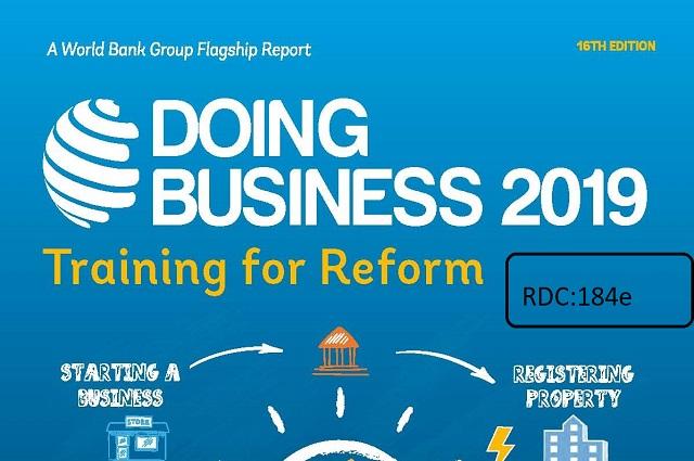 Indice Doing Business: la RDC se classe 184 sur 190 pays