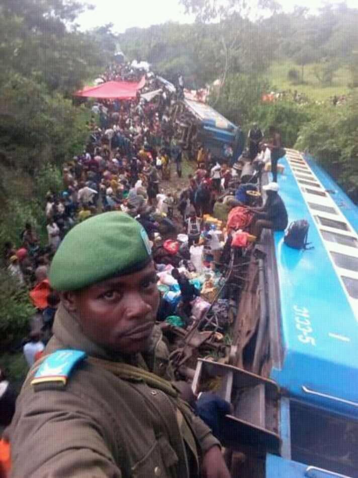 RDC: le deraillement d'un train SNCC fait plusieurs morts