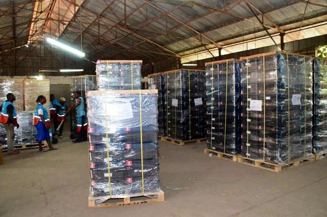 Lubumbashi: le centre de vote  situé dans l'enceinte du collège Imara a déjà ses machines à voter