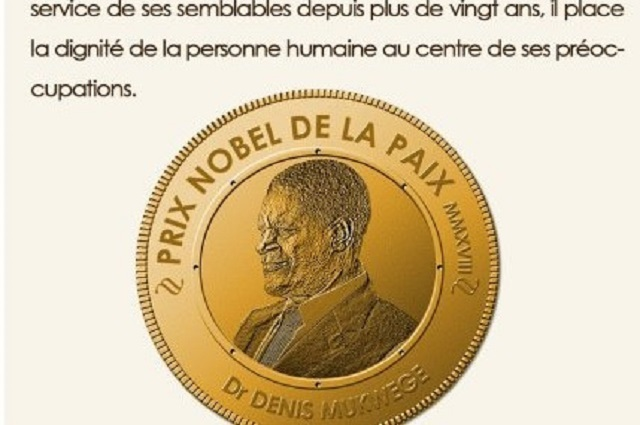 RDC: l'IRDH exige au nouveau président la reconnaissance du prix Nobel de la paix Denis Mukwege