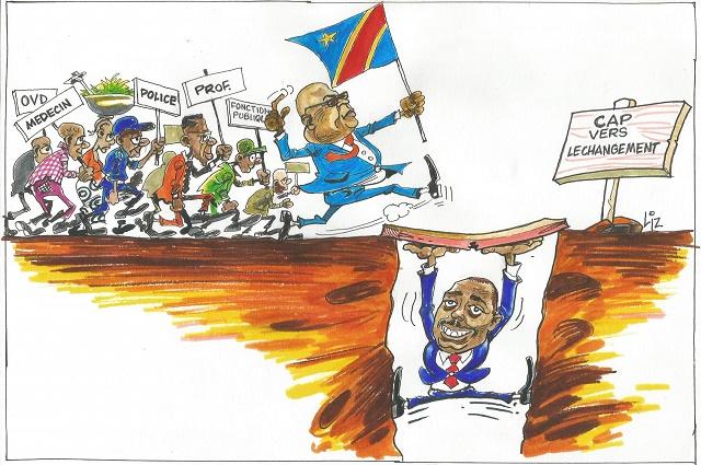 RDC: la colaboration FCC-CACH vu par un carricaturiste