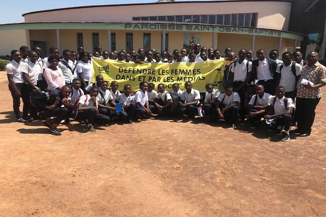 Lubumbashi : 150 élèves garçons ambassadeurs de la liberté d'expression pour la jeune fille.