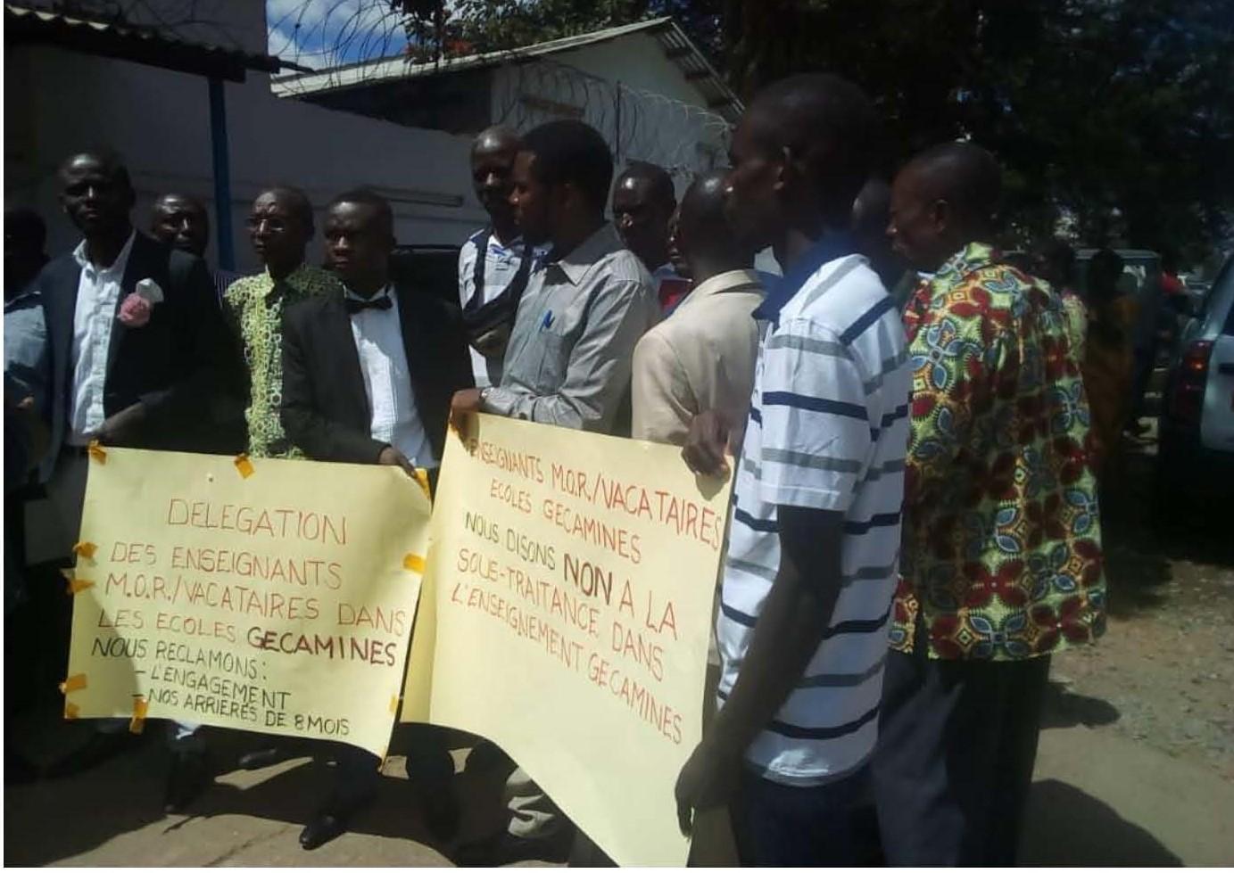 Lubumbashi: les enseignants vacataires de la Gécamines réclament les meilleures conditions de travail
