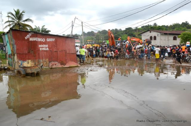 Bukama: des centaines des familles passent la nuit à la belle étoile suite aux inondations