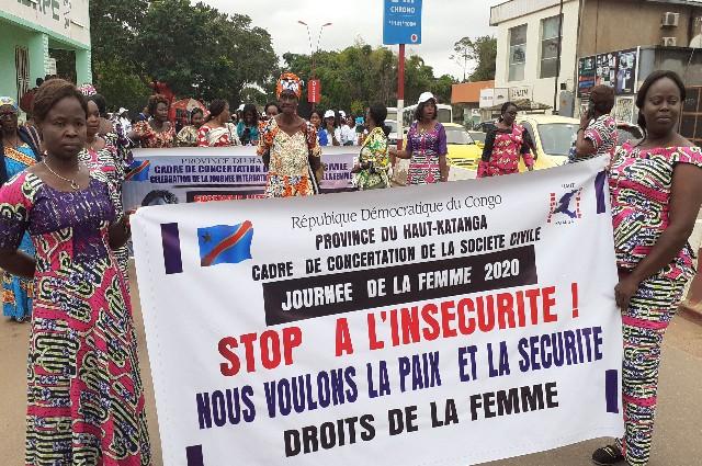Lubumbashi : « non à l'insécurité » disent les femmes au lancement du mois de la femme