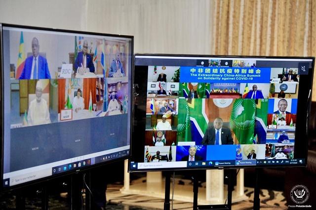 RDC: Felix Tshisekedi a prit part au mini-sommet Chine-Afrique sur la Covid19