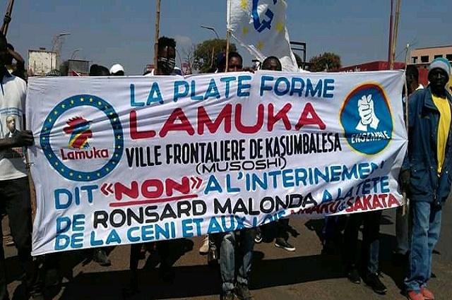 Kasumbalesa: la marche anti-Malonda de la plateforme LAMUKA a eu lieu