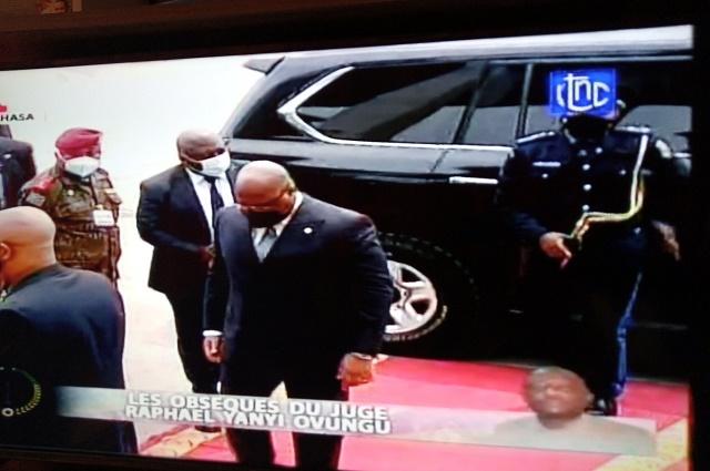 RDC: Félix Tshisekedi s'est incliné devant la dépouille du juge Raphaël Yanyi