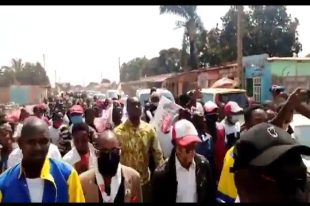 Lubumbashi: l'UNC a marché pour exigé la libération de Vital Kamerhé