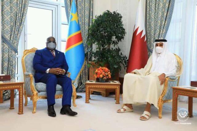 Diplomatie: Tshisekedi s'est entretenu avec l'Emir du Quatar à Doha