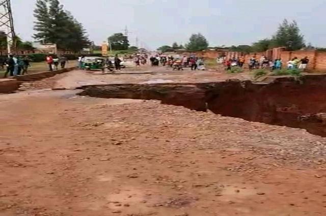 Lubumbashi: la route Kipushi coupée en deux