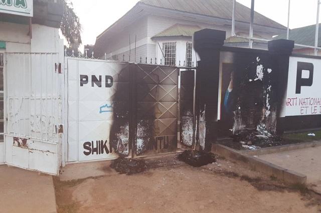 Lubumbashi : le siège  Parti politique PND attaqué dans la nuit de ce Jeudi  31 mai