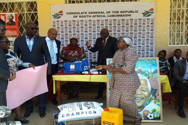 Lubumbashi: l'école Catholique Nuru visitée en marge du Mandela's Day