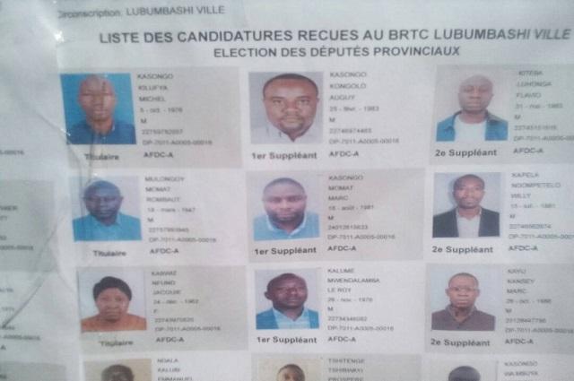 Elections RDC: 19713  candidatures retenues à la deputation provinciale