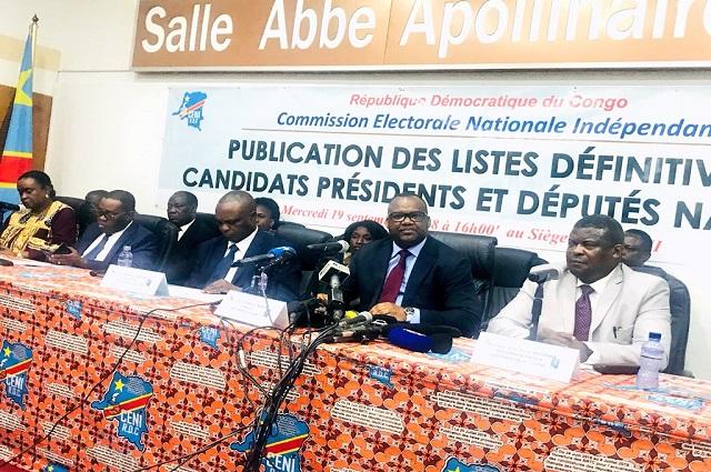 RDC-Ceni : 21 candidats aux présidentielles, 15355 aux nationales et 19 400 aux provinciales