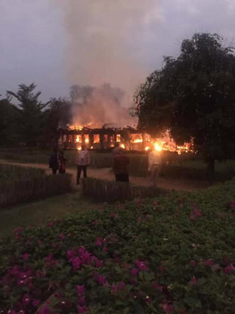 Haut-Katanga:Incendie mysterieux d'une partie du Lodge  de  feu Katumba Mwanke à Kyubo