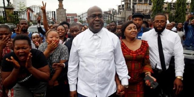RDC: le president Felix Tshisekedi visite les militaires et leurs familles