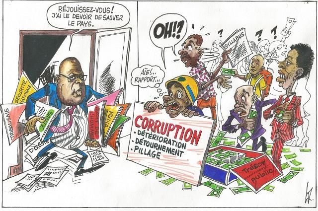 RDC: l'un de chantier prioritaire du Chef de l'Etat en caricature