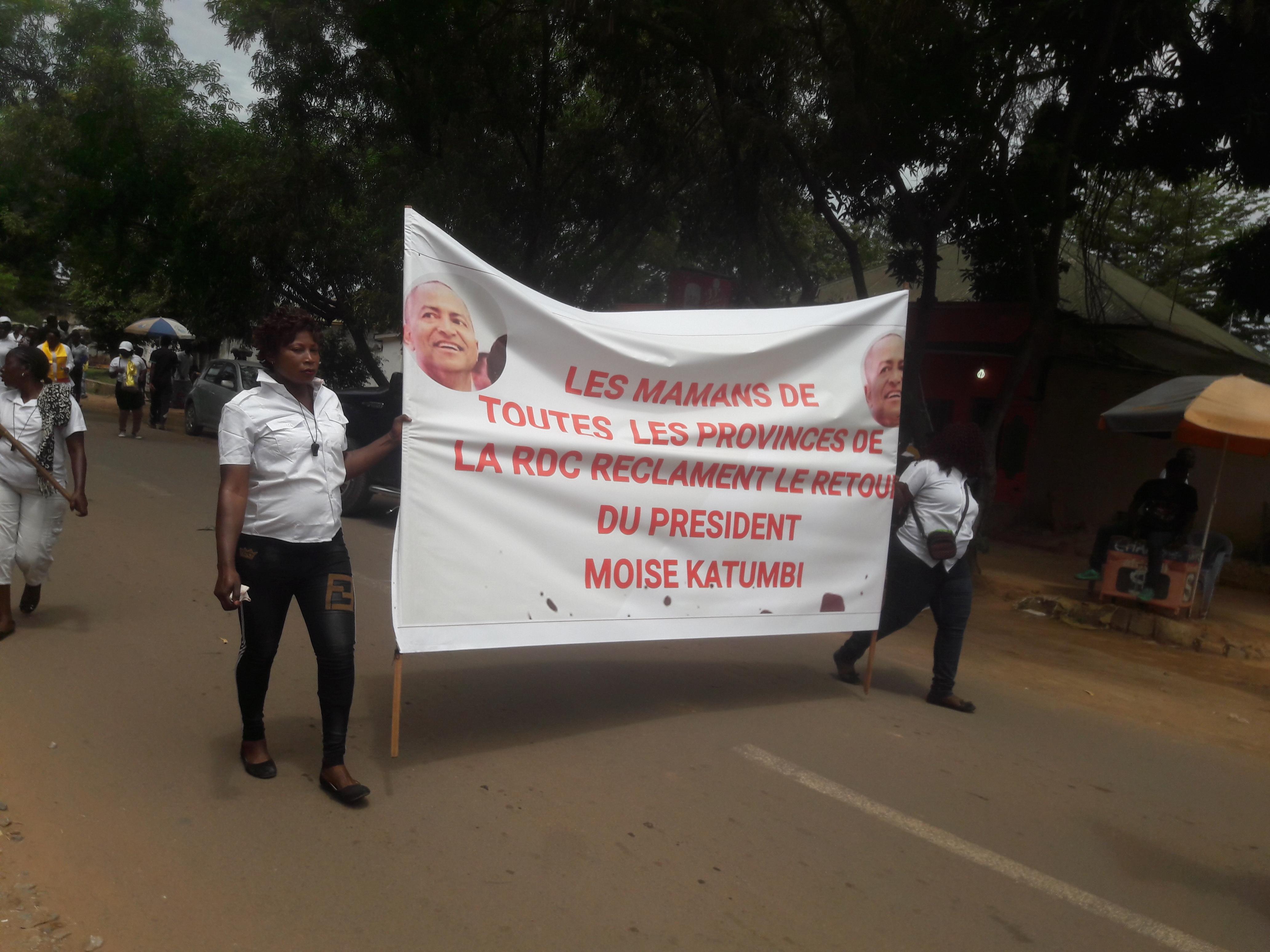 Lubumbashi:les femmes réclament le retour de Moïse Katumbi