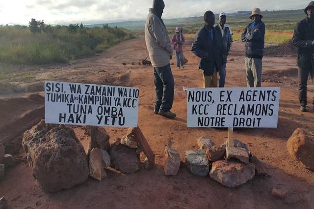 Lualaba : soulèvement des ex agents de l'entreprise KCC