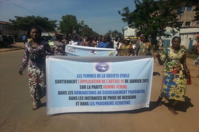Lubumbashi: les femmes exigent la représentativité des femmes au prochain gouvernement
