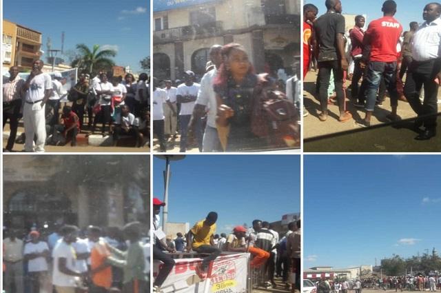 Lubumbashi: en attendant l'arrivée de Moïse  Katumbi , la place de la poste envahit par la population