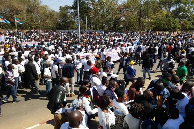 Lubumbashi: la société Civile a organisé une marche pour la paix et la cohésion ce 7 juillet