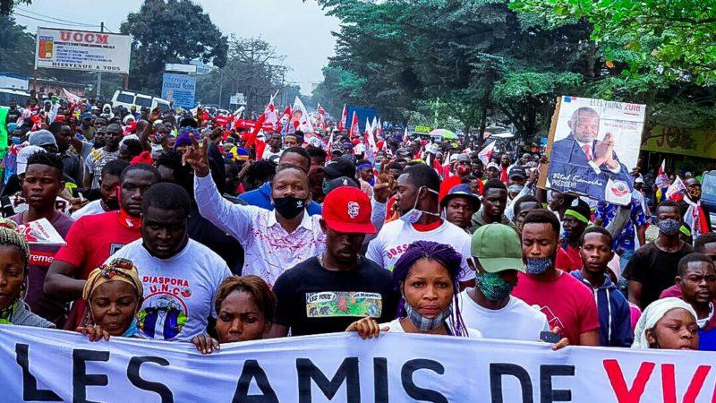 Kinshasa: les militants de l'UNC ont défié l'interdiction de marcher du gouverneur Gentiny Ngobila