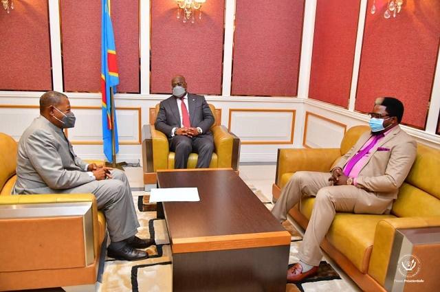 RDC: Lambert Mende Omalanga  reçus par le président Felix Tshisekedi