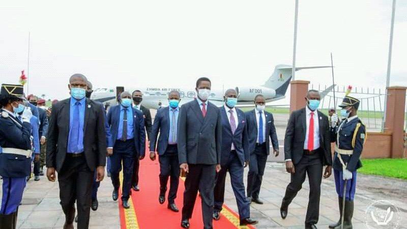 RDC – ZAMBIE: le président Edgar Lungu s'est entretenu avec Tshisekedi à Kinshasa