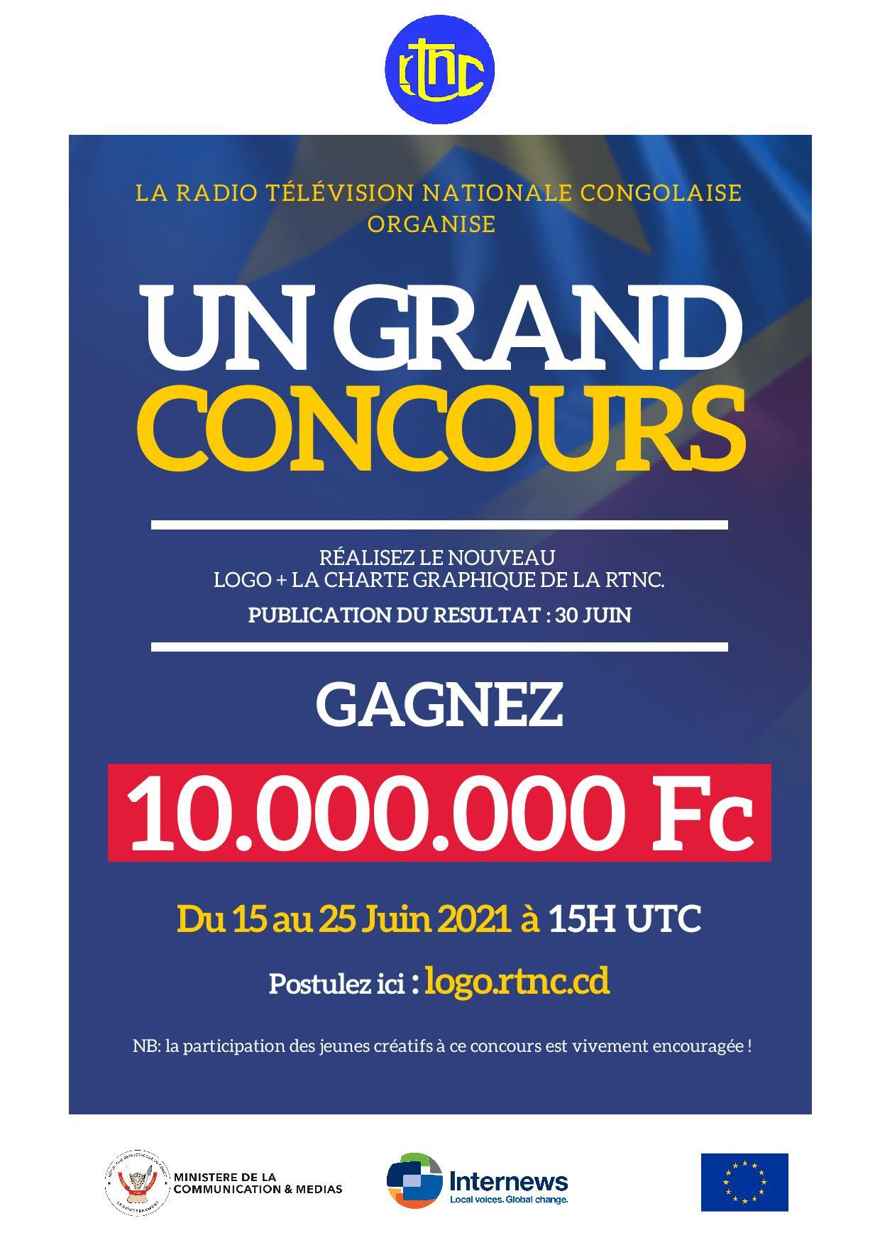 RDC: dernier jour pour postuler à la réalisation du logo de la RTNC