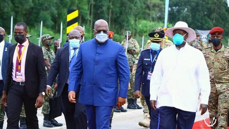 Diplomatie: Tshisekedi et Museveni ont lancé les travaux de modernisation des routes