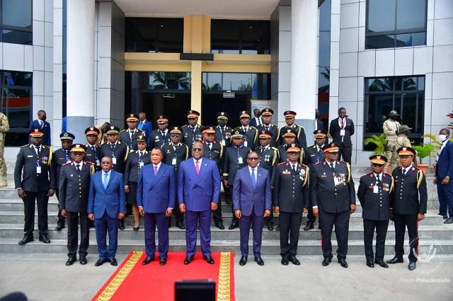 RDC: les présidents Felix Tshisekedi et Sassou-N'guesso ont clôturé l'année académique du CHESD